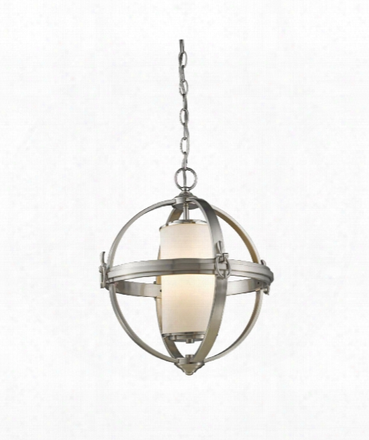 "Pharmacy 20"" 4 Light Large Pendant In Brushed Nickel"