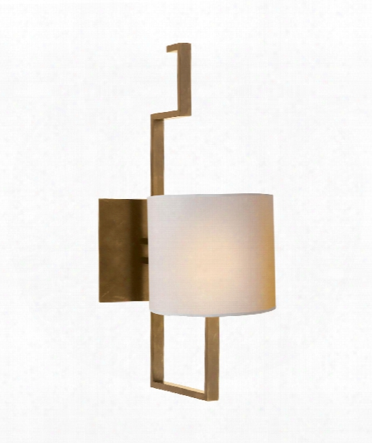 """Puzzle 5"""" 1 Light Wall Sconce In Hand-rubbed Antique Brass"""