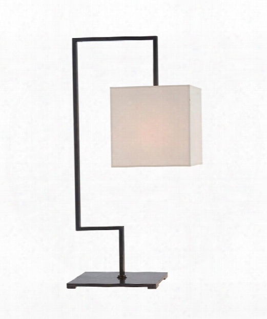 """Puzzle 8"""" 1 Light Table Lamp In Bronze"""