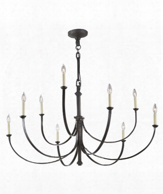 "Reims 49"" 9 Light Chandelier In Aged Iron"