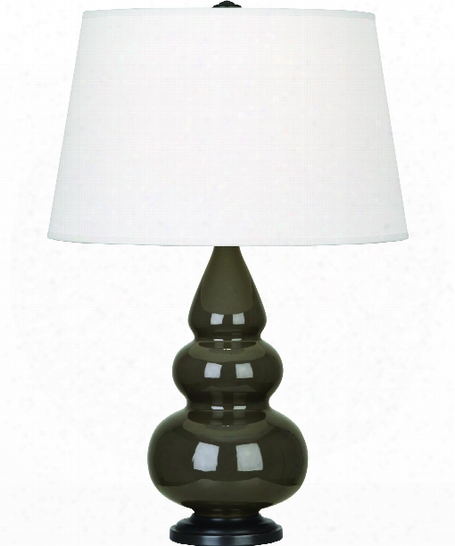 """Small Triple Gourd 5"""" 1 Light Table Lamp In Bronze-brown Tea"""