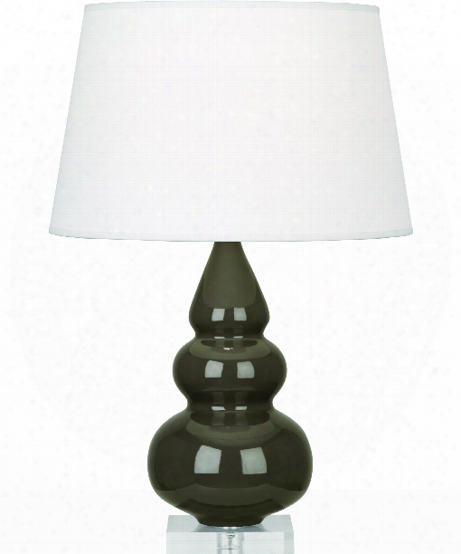 "Small Triple Gourd 6"" 1 Light Table Lamp In Acrylic-brown Tea"