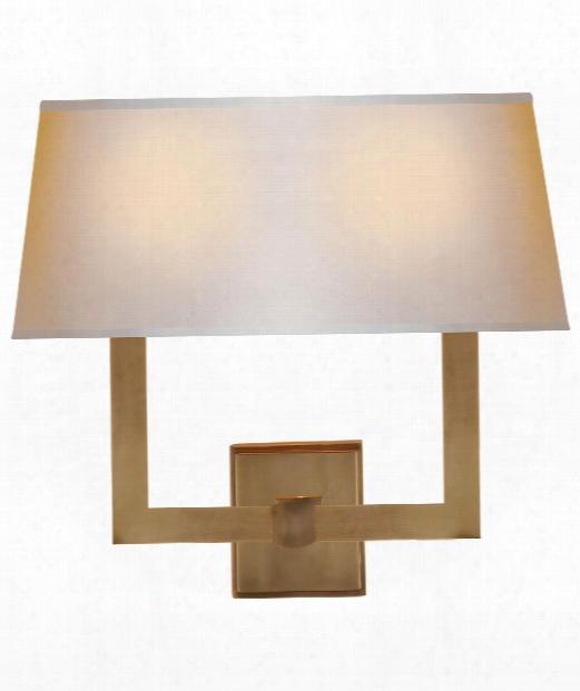 "Square Tube 16"" 2 Light Wall Sconce In Hand-rubbed Antique Brass"