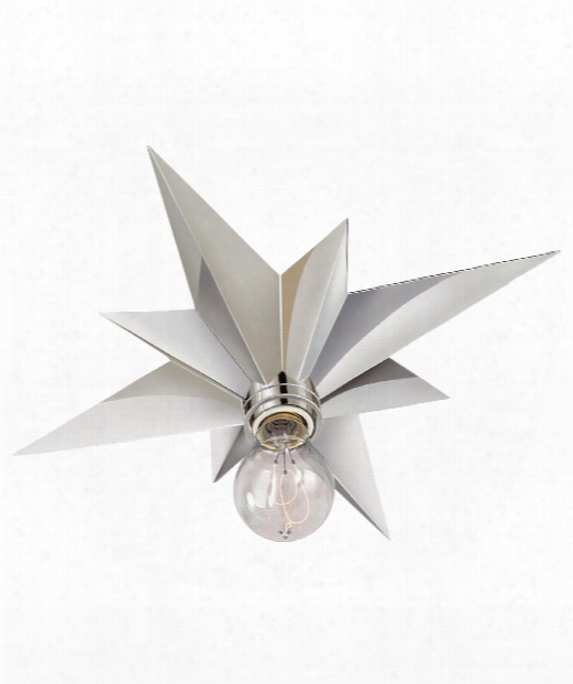"Star 15"" 1 Light Flush Mount In Polished Nickel"