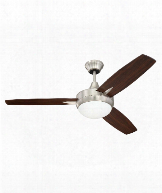 Targas Led 1 Light Ceiling Fan In Brushed Polished Nickel