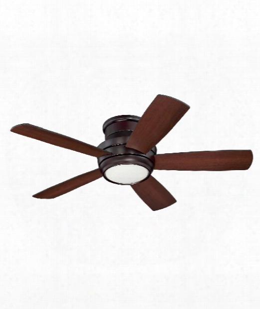 Tempo Hugger Led 1 Light Ceiling Fan In Oiled Bronze