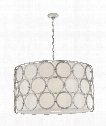 "Alexandra 37"" 4 Light Large Pendant in Burnished Silver Leaf"