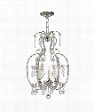 "Hurley 16"" 3 Light Chandelier in Polished Nickel"