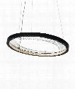 "Interlace 18"" LED 1 Light Large Pendant in Rubberized Black"