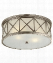 "Montpelier 16"" 3 Light Flush Mount in Antique Nickel"