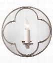 "Quatrefoil 10"" 1 Light Wall Sconce in Antique Nickel"