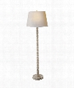 """Spool 20"""" 1 Light Floor Lamp in Belgian White"""