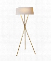 "Thornton 21"" 3 Light Floor Lamp in Hand-Rubbed Antique Brass"