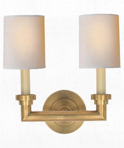 "Wilton 13"" 2 Light Wall Sconce In Hand-rubbed Antique Brass"