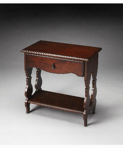 "Archibald 25"" Accent Table In Plantation Cherry"