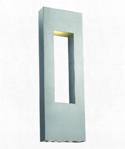 "Atlantis 12"" 3 Light Outdoor Outdoor Wall Light In Titanium"