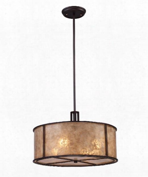 """Barringer 19"""" 4 Light Large Pendant In Aged Bronze"""