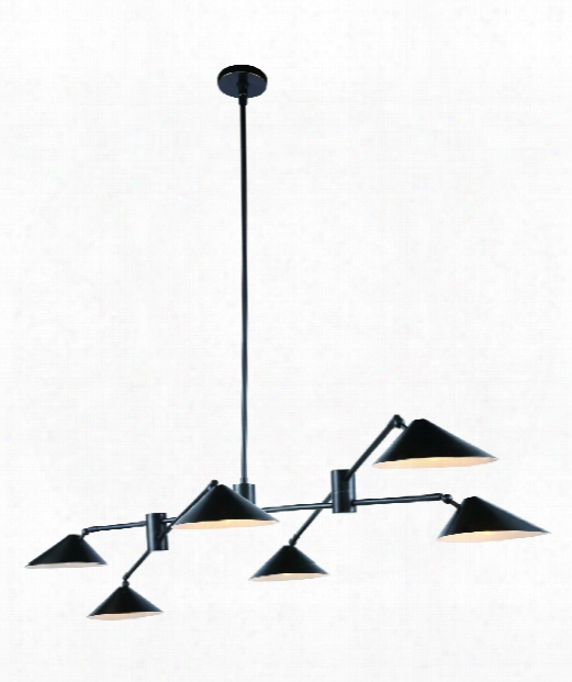 "Berkley 71"" 6 Light Large Pendant In Bronze"