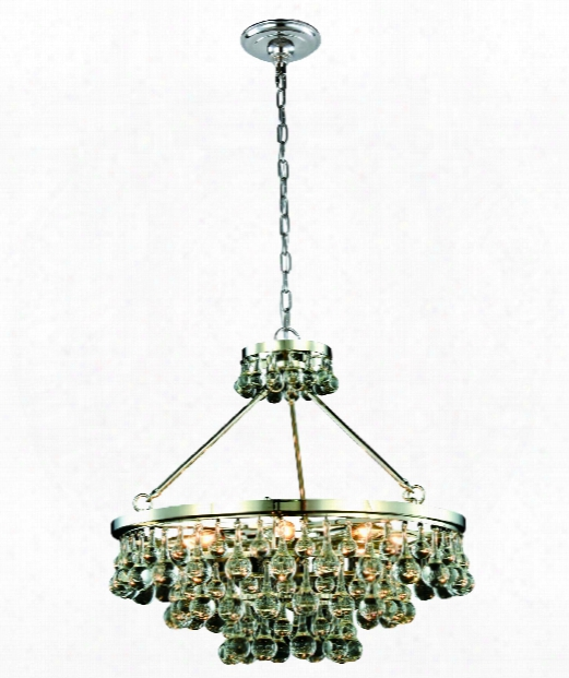 "Bettina 26"" 8 Light Large Pendant In Polished Nickel"