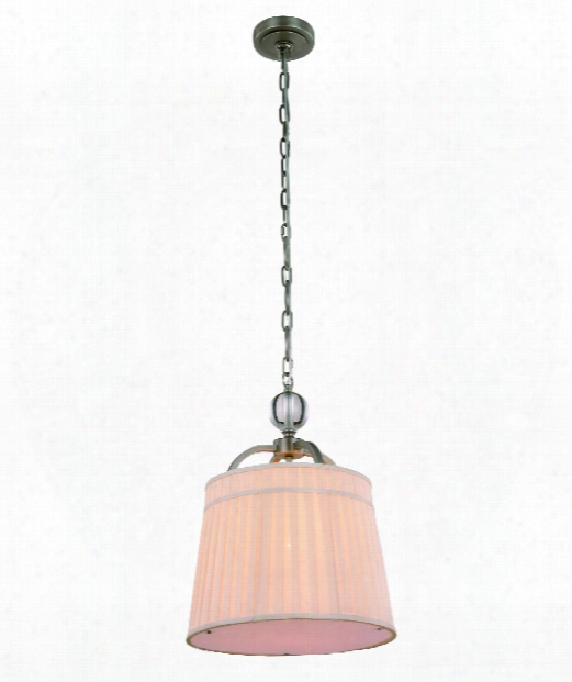 "Cara 15"" 1 Light Mini Pendant In Vintage Nickel"