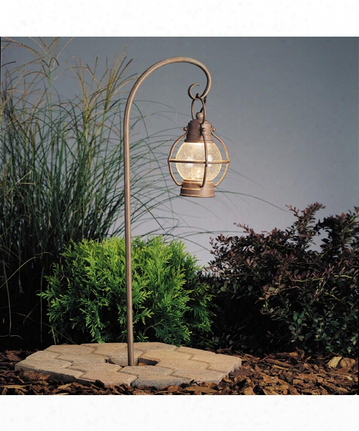 "Concord 8"" 1 Light Outdoor Pathway Light In Olde Brick"