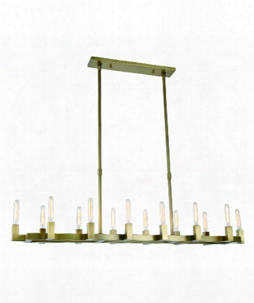 "Corsi Ca 14"" 14 Light Island Light In Burnished Assurance"