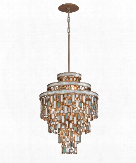 "Dolcetti 18"" 7 Light Large Pendant In Dolcetti Silver"