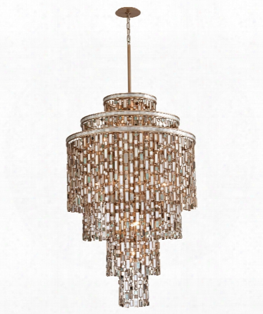 """Dolcetti 32"""" 19 Light Large Pendant In Dolcetti Silver"""