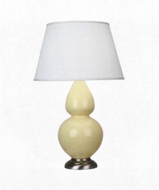 """Double Gourd 7"""" 1 Light Table Lamp In Antique Silver-butter"""