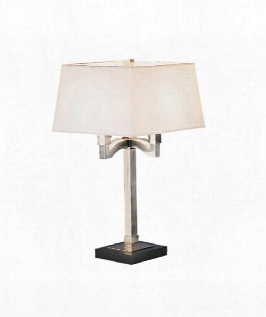 "Doughnut 7"" 1 Light Table Lamp In Antique Silver"