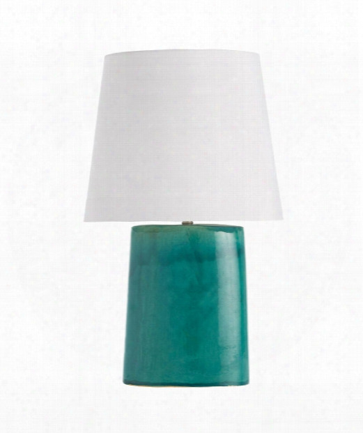 "Edie 18"" 1 Light Table Lamp In Teal Reactive Glaze"