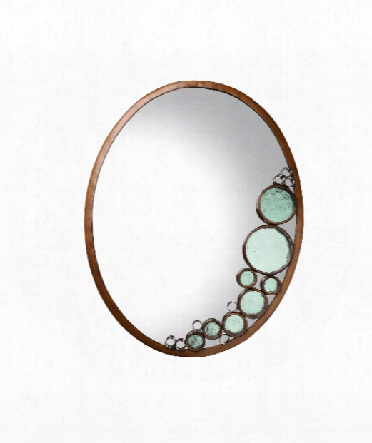"""Fascination 22"""" Wall Mirror In Hammered Ore"""
