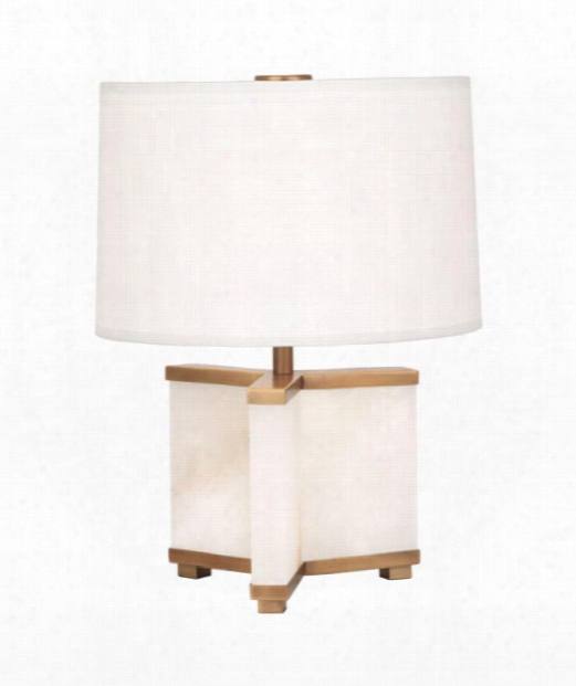 "Fineas 9"" 1 Light Table Lamp In Aged Brass"