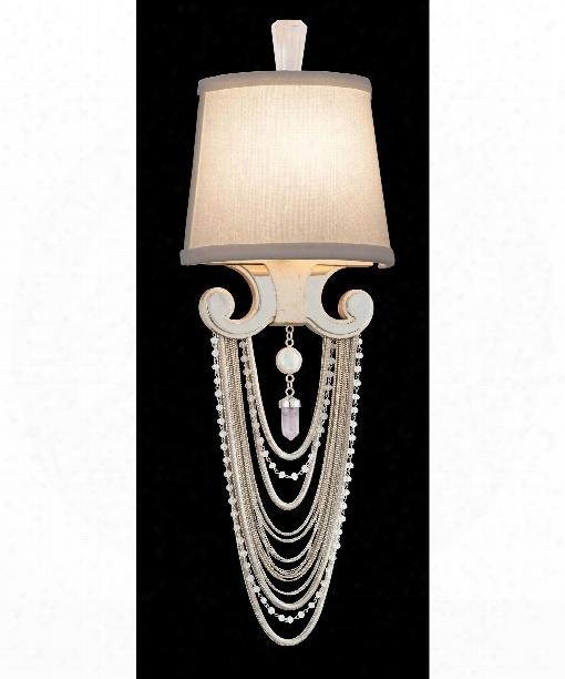 "Flirt 7"" 1 Light Wall Sconce In Modern Silver"