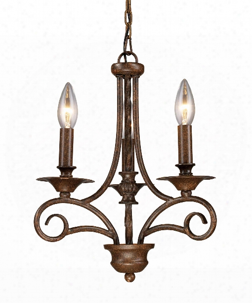 "Gloucester 12"" 3 Light Mini Chandelier In Antique Bronze"