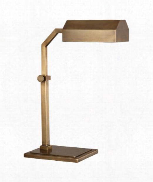 """Jackson 7"""" 1 Light Desk Lamp In Aged Brass"""