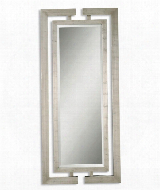 "Jamal 34"" Wall Mirror In Painted Silver"