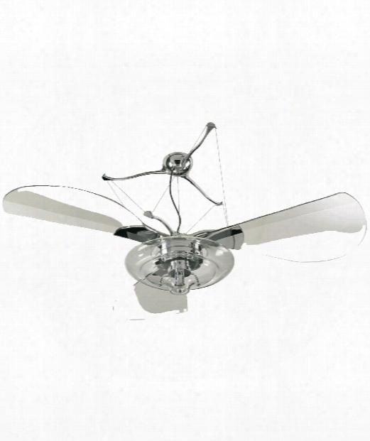 Jellyfish 1 Light Ceiling Fan In Ch Rome