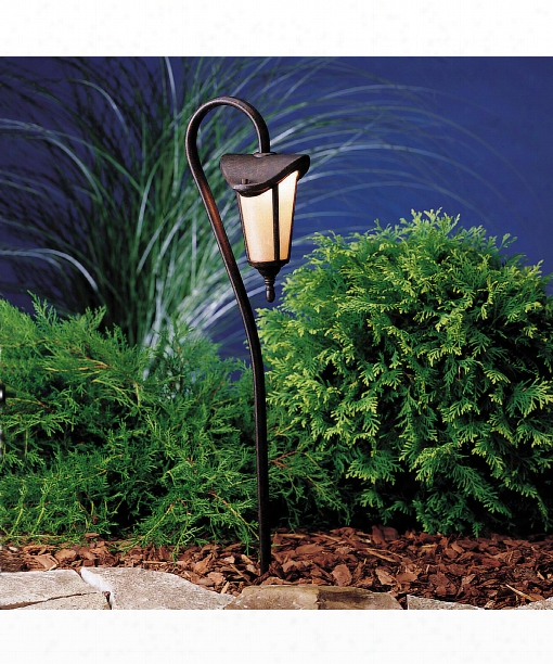 "Lafayette 6"" 1 Light Outdoor Pathway Light In Tannery Bronze With Gold Accent"