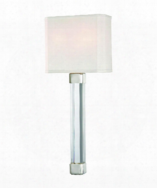 """Larissa 8"""" 2 Light Wall Sconce In Polished Nickel"""
