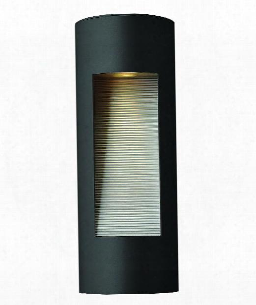 """Luna 6"""" 2 Light Outdoor Outdoor Wall Light In Satin Black"""