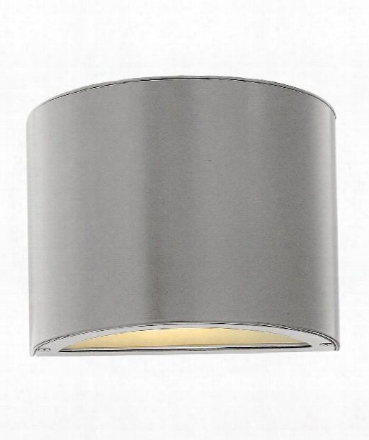 "Luna 9"" 1 Light Outdor Outdoor Wall Light In Titanium"