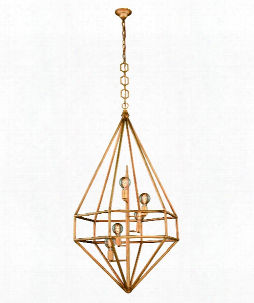 "Marquis 30"" 5 Light Large Pendant In Golden Iron"