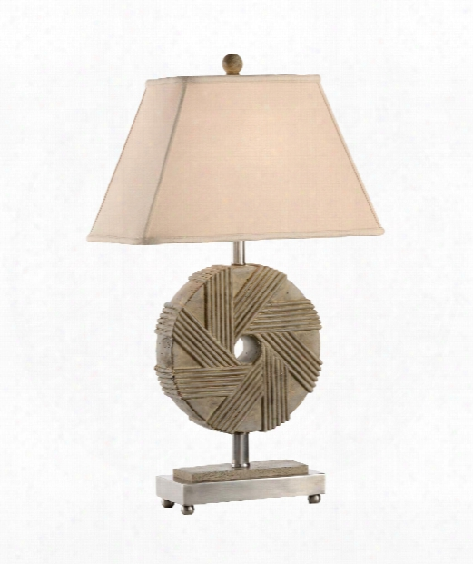 Millstone 1 Light Table Lamp In Aged Stone