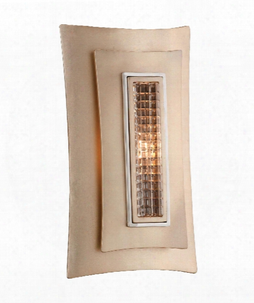"Muse 7"" 1 Light Wall Sconce In Tranquility Silver"
