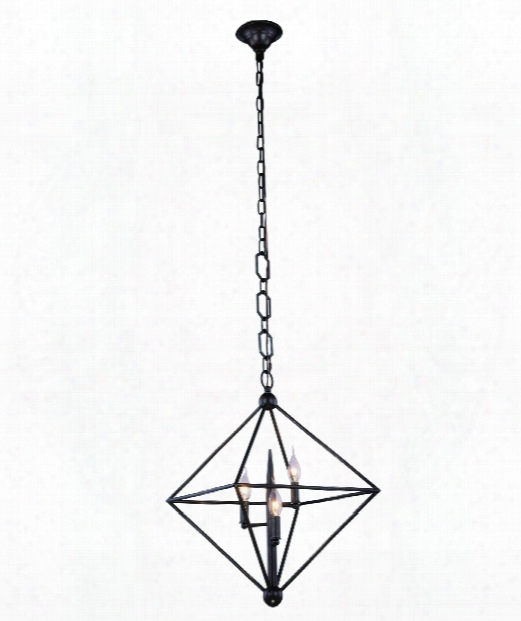 """Nora 22"""" 3 Light Large Pendant In Aged Iron"""