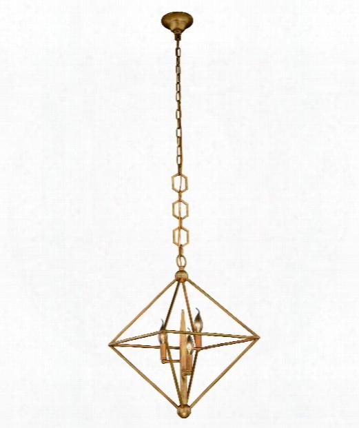 "Norra 22"" 3 Light Large Pendant In Golden Iron"