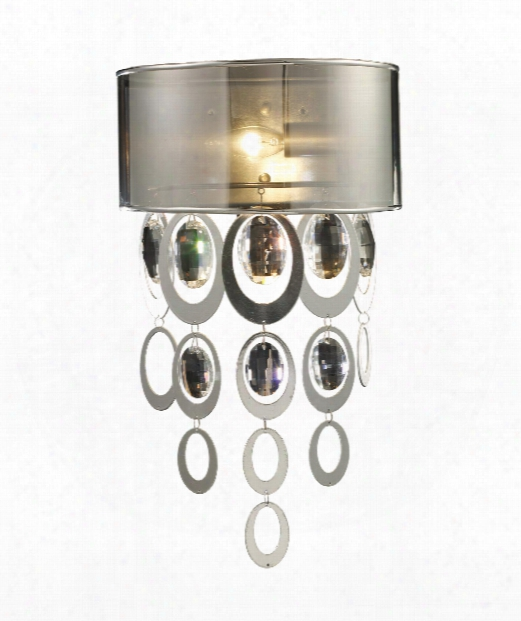 "Parisienne 11"" 1 Light Wall Sconce In Silver Leaf"