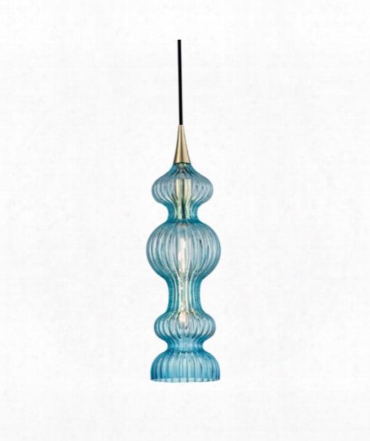 """Pomfret 6"""" 1 Light Mini Pendant In Aged Brass"""