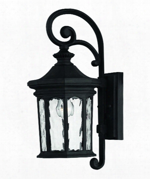 "Raley 7"" 1 Light Outdoor Outdoor Wall Light In Museum Black"